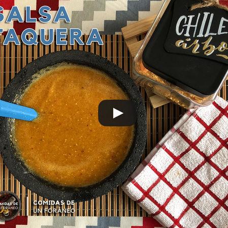 Salsa Taquera | Salsa de Chile de Árbol