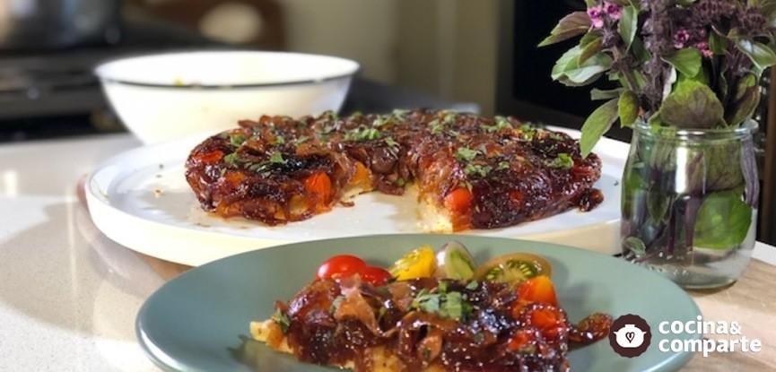 Tarta vegana de tomate