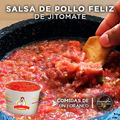 Receta de Salsa de pollo feliz | salsa de jitomate cruda