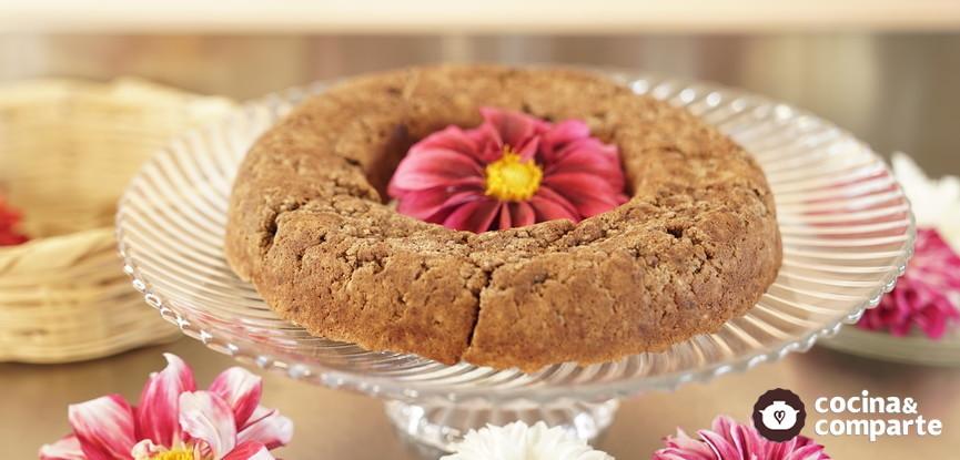 Pastel vegano y sin gluten con harina de Dalia