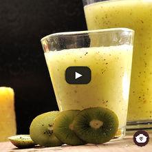 Agua de kiwi con piña