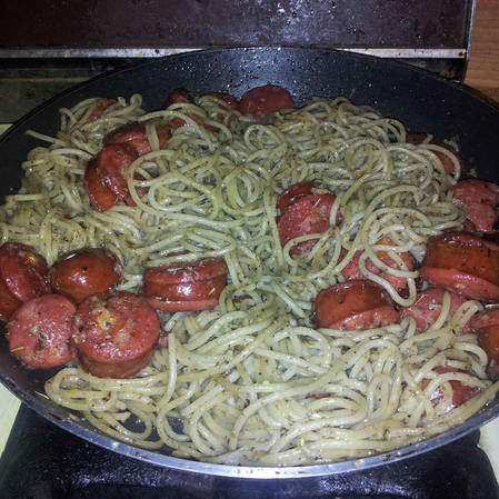 Espagueti Hierbas Finas y Polaka