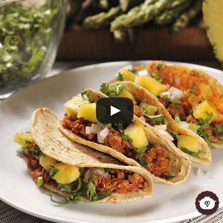 Tacos al pastor vegetarianos