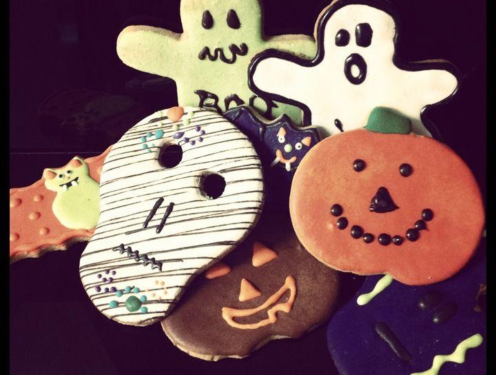 Galletas con personajes de halloween