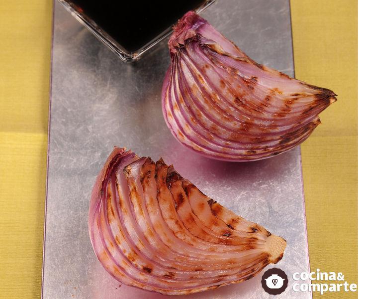 Cebolla morada con balsámico