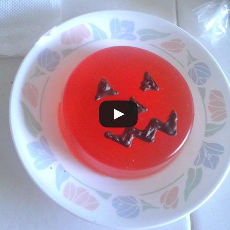 Gelatina en forma de calabaza