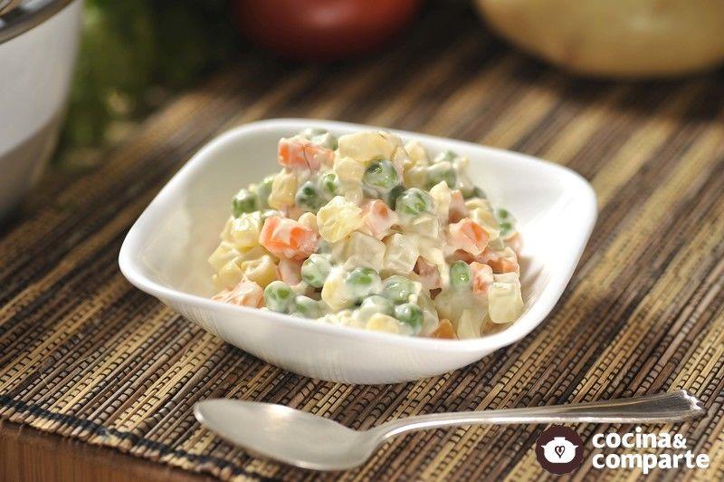 como hacer ensalada de verduras cocidas