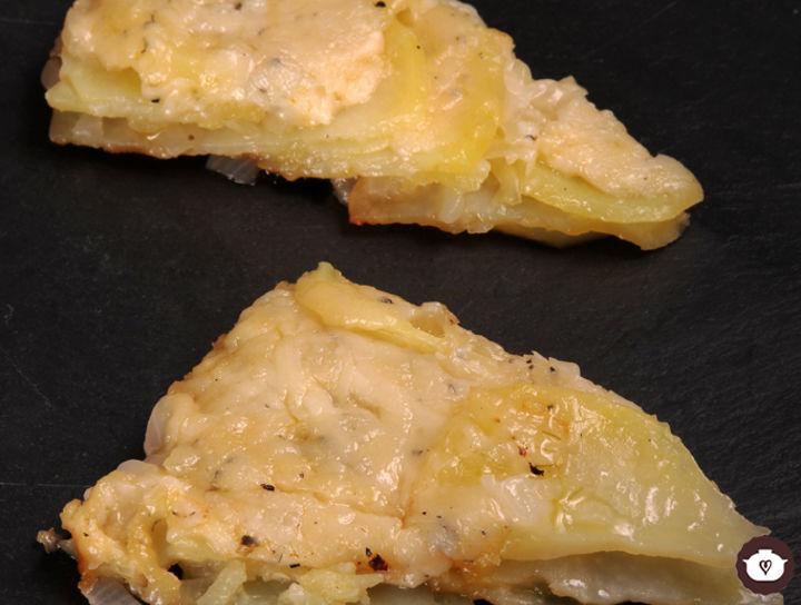 Torta de papa con queso