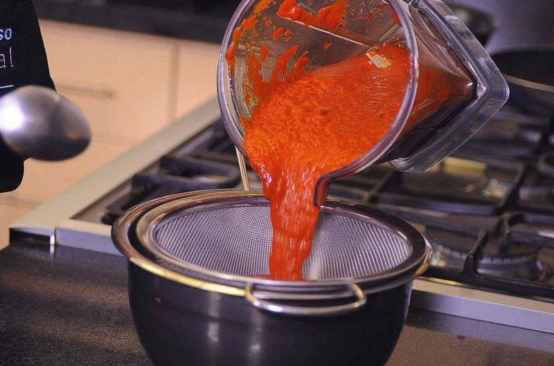 Colar la salsa.