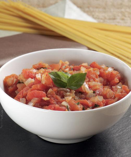 Esta salsa se puede utilizar como base para aderezar una pasta italiana, para elaborar una pizza o simplemente para comer con pan.