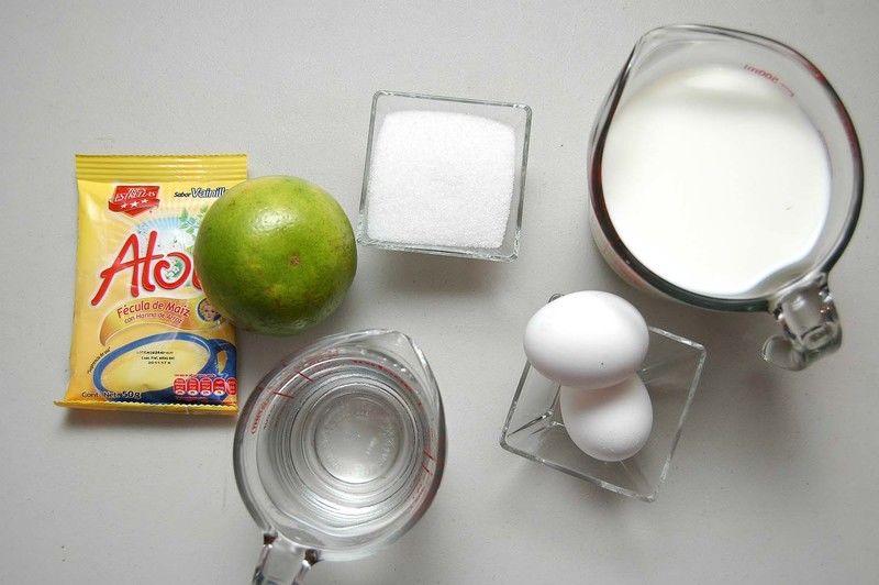 Ingredientes para receta 1 sobre de atole tres estrellas sabor vainilla 1/2 litro de leche de vaca 2 piezas de huevo 1 pieza de naranja 1 taza de licor de naranja 1/4 taza de azúcar blanca