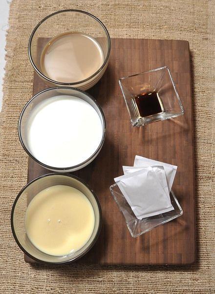 2 tazas de leche 1 taza de leche condensada 1 taza de crema irlandesa de Baileys 1 cucharadita de vainilla 21 gramos de grenetina