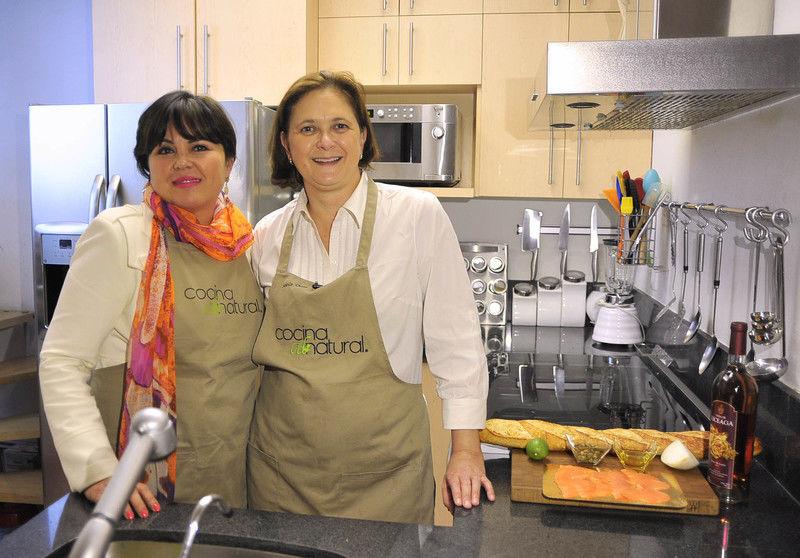 Myrna de Liceaga, de la bodega mexicana Viña de Liceaga y Sonia Ortiz, de Cocina al Natural.