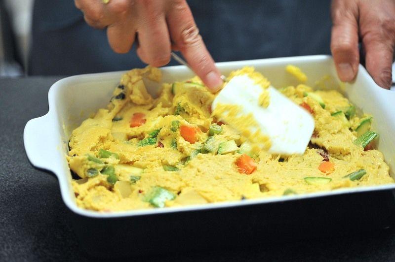hora de precalentar el horno Pastel De Vegetales